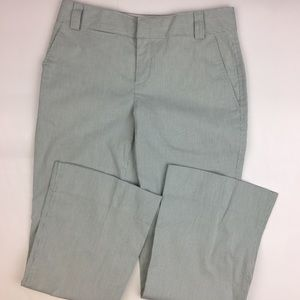 Club Monaco Flared White and Green Trousers Size 0
